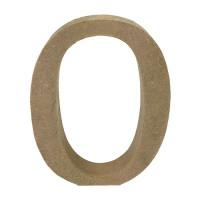 Letra en DM- Altura aprox 12 cm- Grosor 2 cm- Letra O