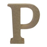 Letra en DM- Altura aprox 12 cm- Grosor 2 cm- Letra P