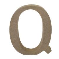 Letra en DM- Altura aprox 12 cm- Grosor 2 cm- Letra Q