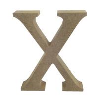 Letra en DM- Altura aprox 12 cm- Grosor 2 cm- Letra X