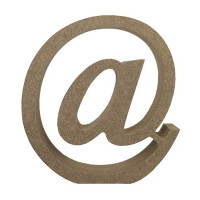 Letra en DM- Altura aprox 12 cm- Grosor 2 cm- Simbolo @