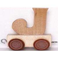 Articulo bebe - Tren de Letras - Letra J - 5x3.5x6 cm