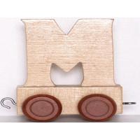 Articulo bebe - Tren de Letras - Letra M - 5x3.5x6 cm