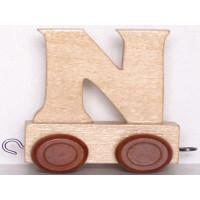 Articulo bebe - Tren de Letras - Letra N - 5x3.5x6 cm