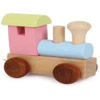 Articulo bebe - Tren de Letras - Locomotora Pastel 6x3x5.5 cm