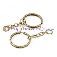 Llavero color bronce 5.3 cm con anilla 20 mm