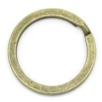 Anilla o argolla llavero bronce ORO VIEJO 28 mm