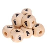 Cubo madera natural alfabeto 11x11 mm Pies (calidad alemana)