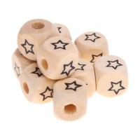 Cubo madera natural alfabeto 11x11 mm Estrella (calidad alemana)