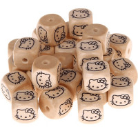 Cubo letra madera carvada 12x12 mm - Hello Kitty