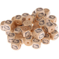 Cubo letra madera carvada 10x10 mm - Hello Kitty
