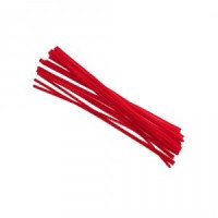 Limpiapipas grueso color rojo 5 mm, 30 cm ( 50 uds)