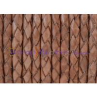 Cuero trenzado 100% cuero 3 mm color natural vintage(0.5 metro)