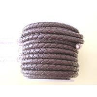 Cuero trenzado 100% cuero 5 mm color marron ( 0.5 metro)