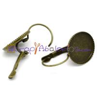 Pendiente gancho  bronce 26x15 mm, int 14 mm (2 uds- 1 par