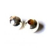 Bola metalica plateada 5 mm ( 25 uds)