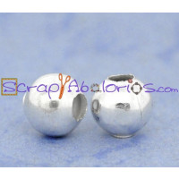 Bola metalica plata clara 6 mm ( 20 uds)