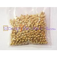 Bolita metalica dorada 3 mm ( 100 uds)