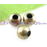 Bola 6 mm color bronce (oro viejo), taladro 2 mm (20 uds)