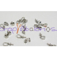 Conector Mini cancamo plata niquel con enganche  8x4 mm (10 uds)