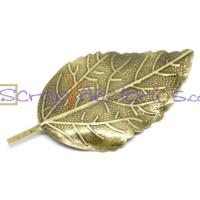 Fornitura filigrana bronce hoja 6.6x3.3 cm