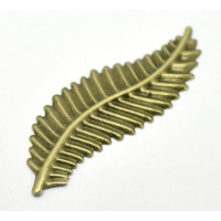 Aplique fornitura filigrana bronce hoja 85x28 mm