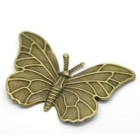 Aplique fornitura filigrana bronce  mariposa 60x40 mm