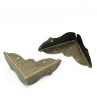Esquinera cantonera caja bronce scrap 52 mm -2 uds