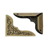 Esquinero bronce decorado scrapooking 23x23 mm -2 uds