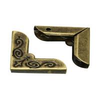 Esquinero bronce  scrapooking 21x21x5  mm - 8 uds