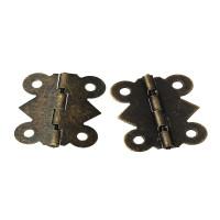 Bisagra bronce para caja, album, encuadernacion..25x20 mm - 2 uds