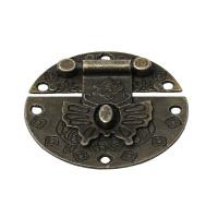 Cierre bronce labrado 40x41mm para caja madera, album, etc..