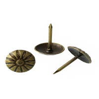 Clavo bronce 12 mm con embellecedor redondo 16 mm - 2 uds