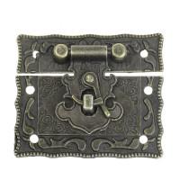 Cierre bronce labrado rectangulo 4.2x5.1 cm madera, album, etc..