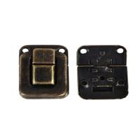 Cierre bronce 39x27 y 27x25 mm para caja, album, etc - 1 set