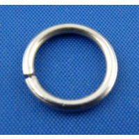 Anilla plateada clara 10 mm, grosor 1.2 mm  ( 50 uds)
