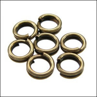 Anilla doble bronce 5 mm ( 7g, 105 uds)