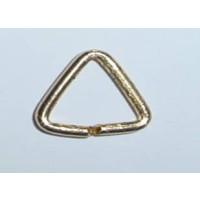 Anilla o argolla niquel plateada triangulo 10x10 mm  (50 uds)