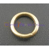 Anilla 8 mm oro viejo ( bronce)  gruesa 1.2 mm ( 100 uds)