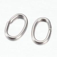 Anilla de acero inoxidable ovalada 6.5x4 mm (20 uds)