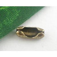 Cierre bronce para cadena de bolitas  1.5- 2 mm ( 20 uds)