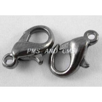 Cierre mosqueton negro 10  mm (10 uds)