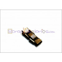 Cierre metal bronce clip 25x7.5 mm. Taladro 5x3 mm