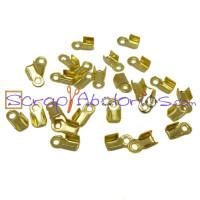 Terminal dorado grande 8x4 mm (50 uds)
