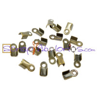 Terminal bronce 4x6 cm  2 gramos (65 uds aprox)