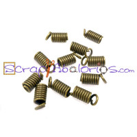 Terminal metal bronce cilindro 8x4 mm (25 uds) para cordon 2 mm