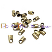 Terminal bronce taladro 2 mm (4x6 mm) 20 uds