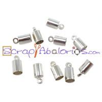 Terminal plateado tubular 9x4 mm para cordon 3 mm ( 10 uds)