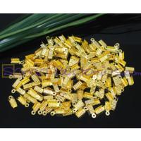 Terminal dorado estriado  5x12 mm (20 uds) Taladro 4 mm