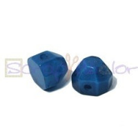 Media bola Facetada aguas blancas 13x14x12 mm - Azul